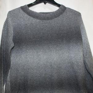 Relativity Womans 1X Grey Long sleeve Sweater